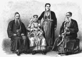 Jewish family in 19th century Palestine