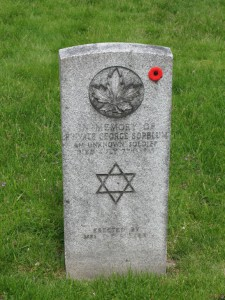 Toronto's Jewish 'Unknown Soldier' from WWI