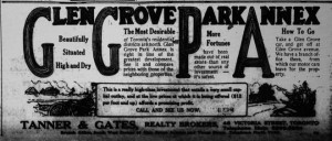 Glen Grove development 1912