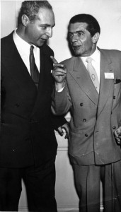 David Rome, left, with Shmuel Mayer Shapiro, ca 1950