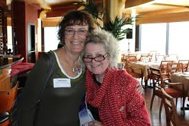 Wolfe (right) with author Kathy Kacer